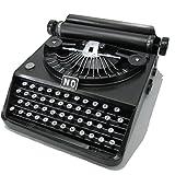 アンティーク風 ブリキ製 タイプライター オブジェ ブラック オシャレな レトロ雑貨 装飾等に