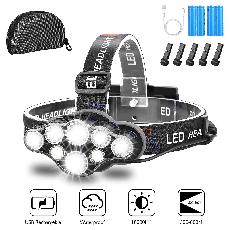 3 LED Kopflampe mit Rotlicht Kopf Lampe Stirn Kopflampen Stirnlampe LEDLampen