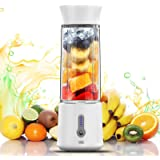 chalvh Portable Blender, 16.9 Oz Personal Blender for Shakes, Smoothie and Fruit Juice, Mini Personal Size Mixer with USB Rec