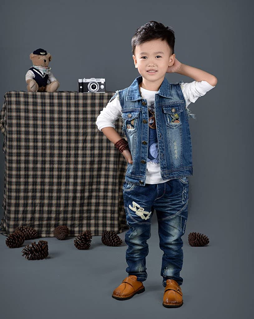 eTree Baby Boys Girls Vintage Buttons National Style Holes Vest