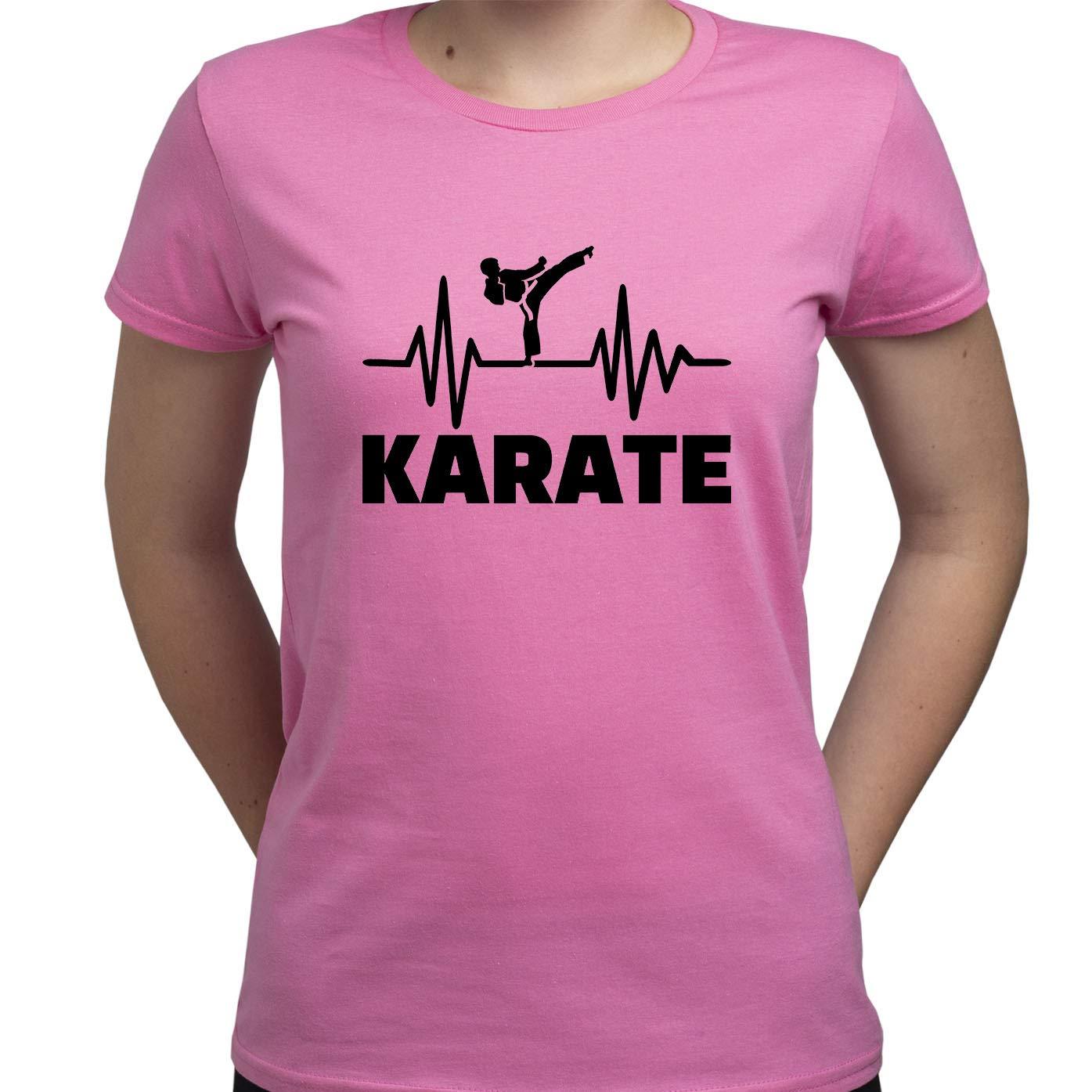 EUGINE DREAM Karate Shirt Karate Fan Tshirt Karate Gift T Shirt Karate Sport T-Shirt Donna