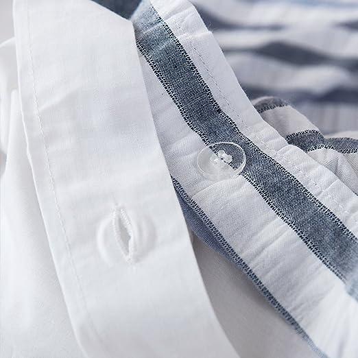 Amazon.com: Lausonhouse 100% Cotton Woven Seersucker Stripe Duvet Cover - King - Multi: Home & Kitchen