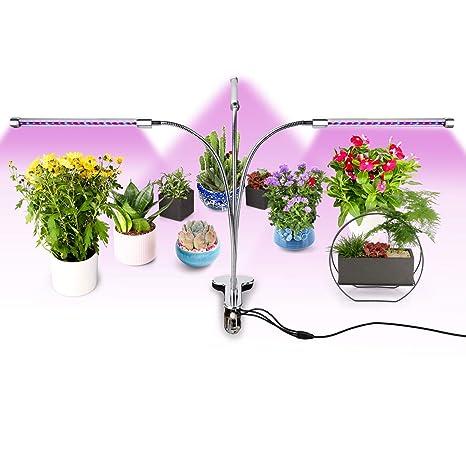Amazon.com : Belle 3 Head LED Plant Grow Light, 5 Dimmable Levels ...