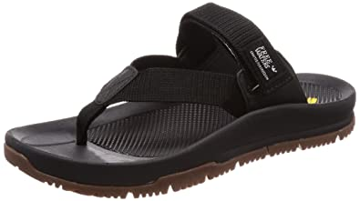 be77ca87f444 Freewaters Men s Trifecta Flip Flop Hiking Sandal w Arch Support Stability  Strap   Grippy Outsole