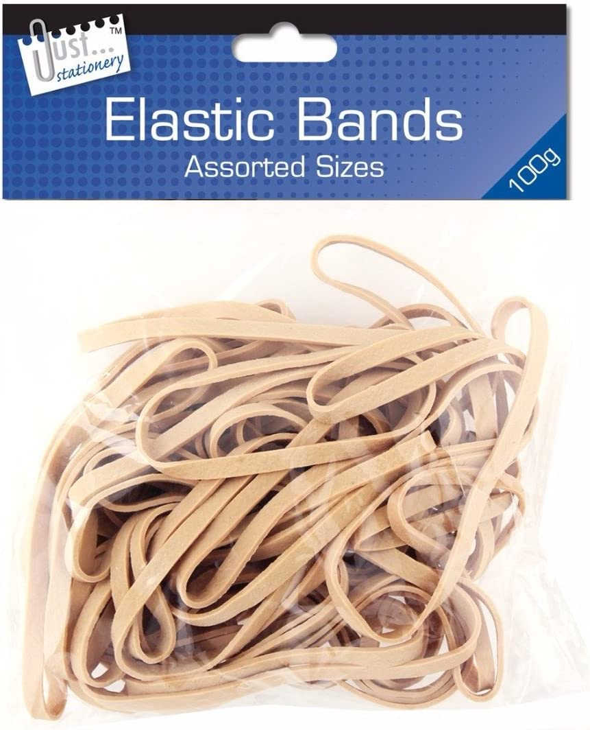 2x Just Stationery Assorted Size Original Elastic Band