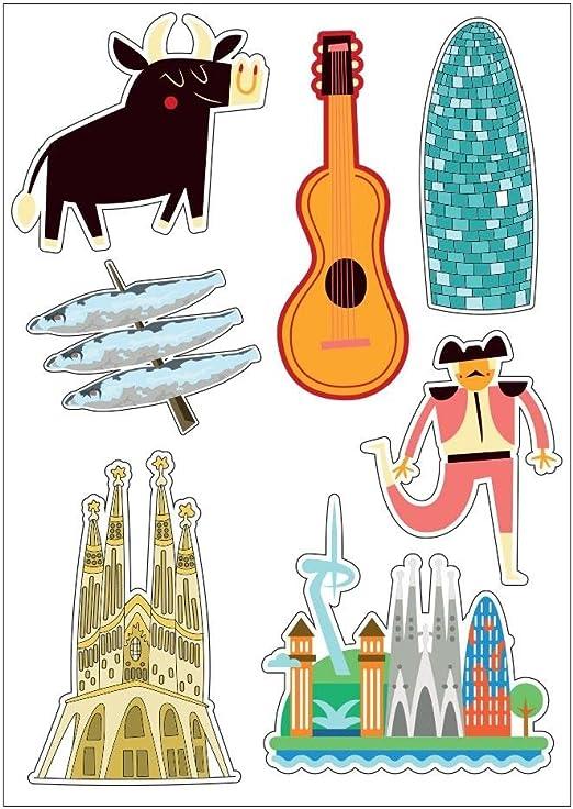Tabla A4-Pegatinas de España Skin adhesiva scrapbooking-E25 ...