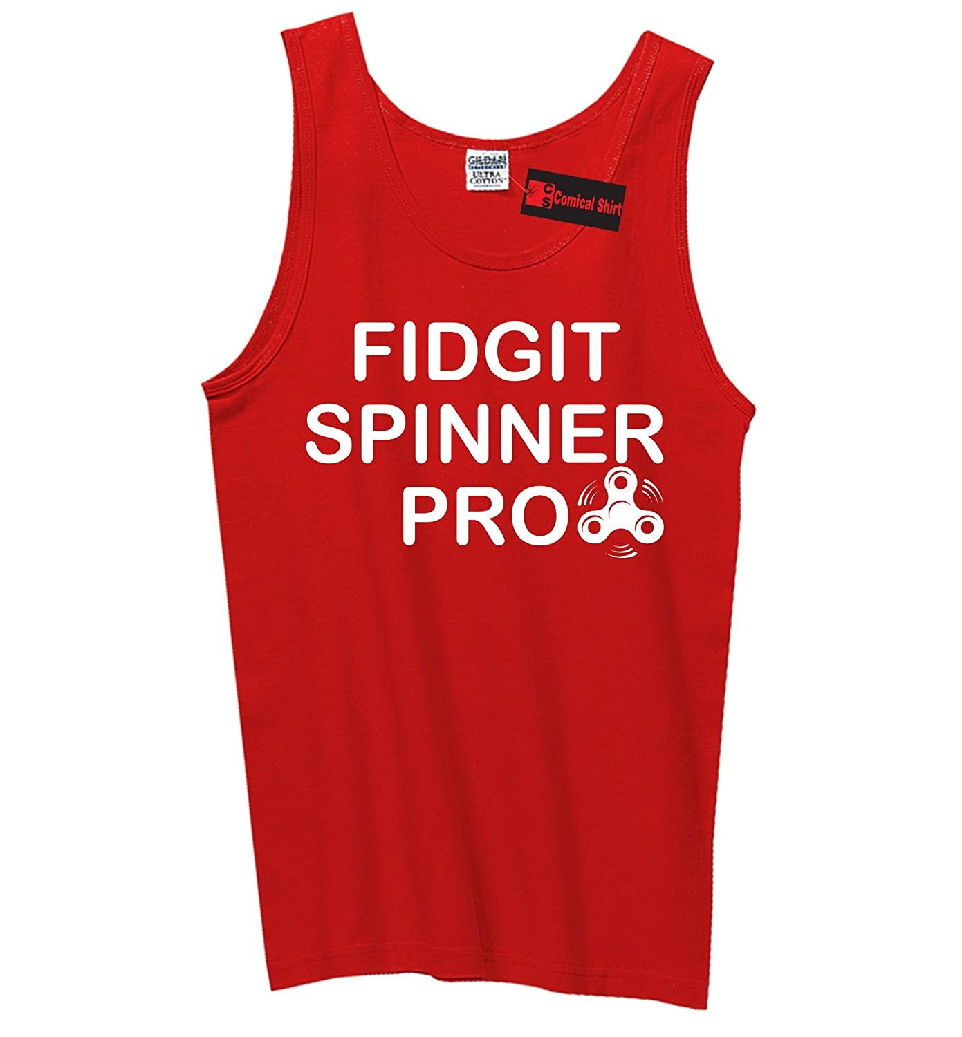 Comical Shirt Mens Fidgit Spinner Pro Tank Top