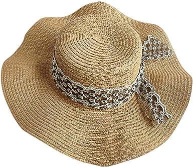 Summer Sun Hats Women Wide Brim Ladies Straw Hat Beach Vacation Girls Panama Cap