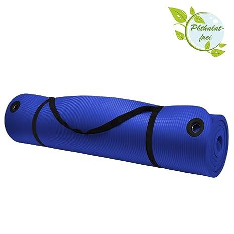 ALPIDEX Esterilla colchoneta de Yoga Professional 190 cm x 100 cm x 1.5 cm con Ojales practicales para Fitness Deportiva Pilates Gimnasia Ejercicio, ...