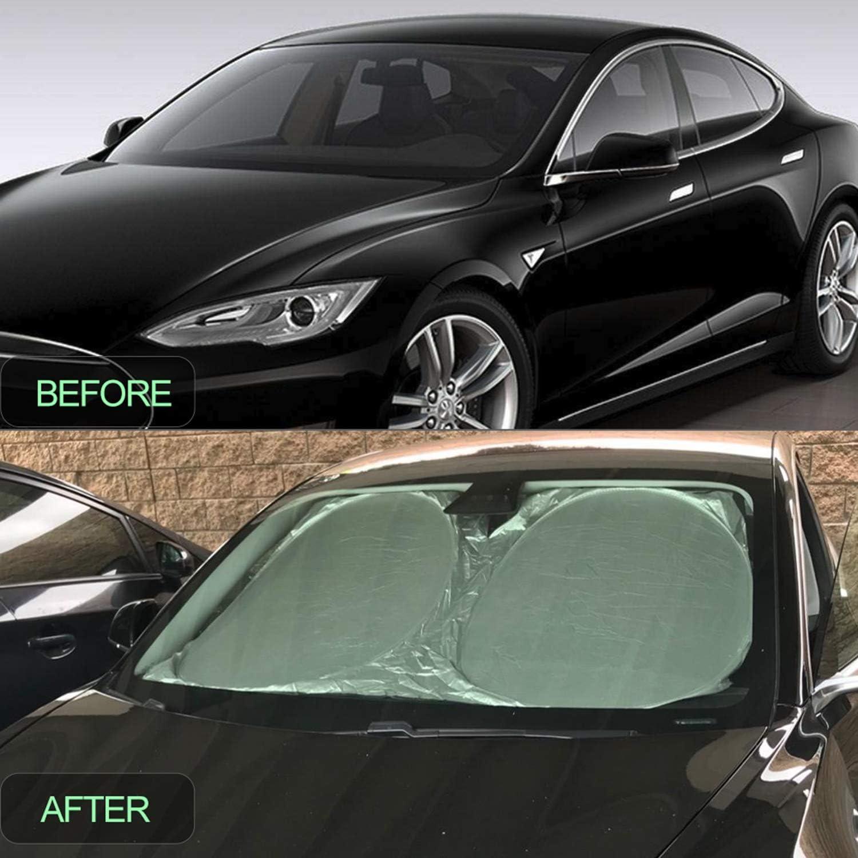 RANSOTO The Original Windshield Sunshade Sun Shade for Tesla Model 3 2018 2019 for Model 3
