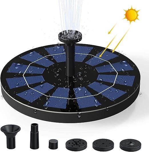 Ankway Bomba de Agua Solar para Fuente 2.5W Respaldo de batería incorporada (versión 2019), Kit de Bomba Sumergible para el Aire Libre Baño de Aves, Estanque, Piscina, Patio, decoración de jardín: Amazon.es: