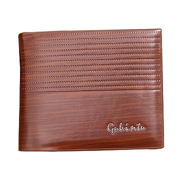 Wewod hombres Bifold cuero PU cuero billetera Titular de la tarjeta de crédito bolso embrague Monedero