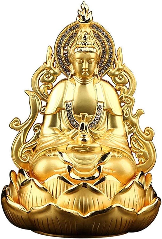 Figurine Statue Home Decor Creativity Guan Yin Buddha Statue Figurine, Meditating Double Sided Quan Yin Sculpture Ornament, Kuan Yin Statue, Best Chinese Feng Shui Gifts, Home Car Decoration