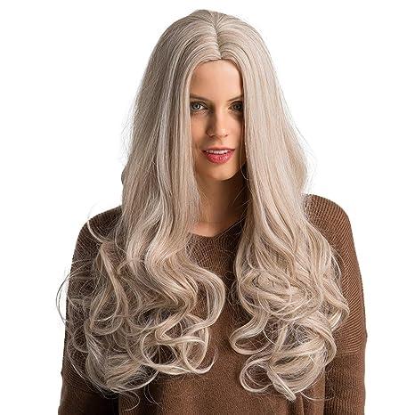 Sharplace Perruque Femme Longue et Naturel