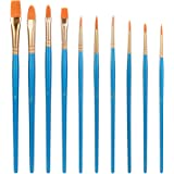 Amazon Basics Art Paint Brush Set, 10 Different Sizes for Artists, Adults & Kids, 6 Sets