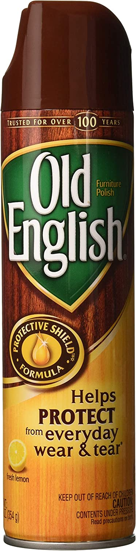 Old English Furniture Polish Spray, Lemon 12.50 oz (Pack of 2)