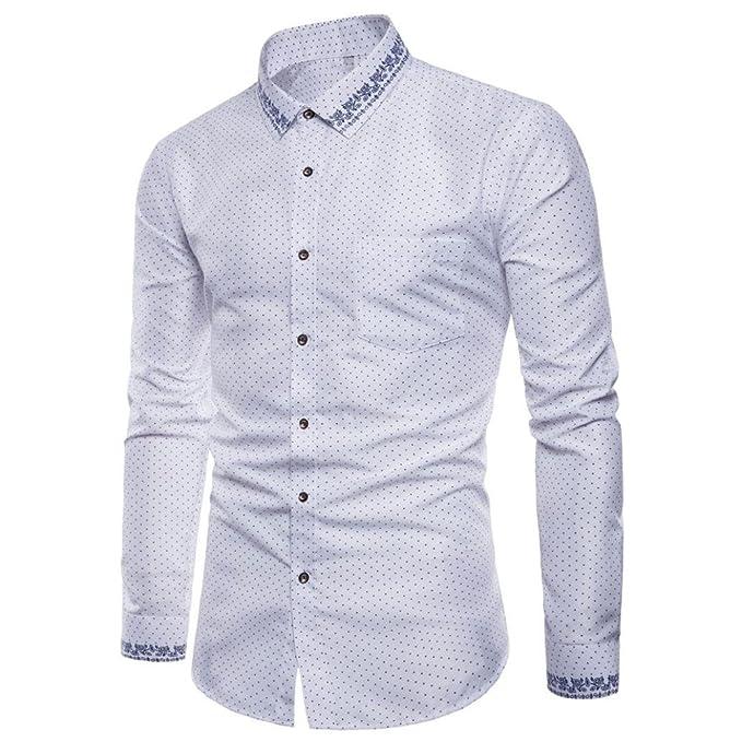 9eb44e42869d1 Sannysis Manga Larga De Oxford Hombres De Color Sólido De La Camisa Abajo  Camisa Regular De Ajuste Regular Camisas Slim Fit Hombre Cuello Clásico  Camisas ...