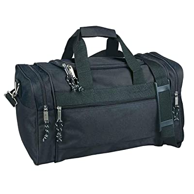 "21"" Blank Duffle Bag Duffel Travel Camping Outdoor Sports Gym Accessories Bag - Black"