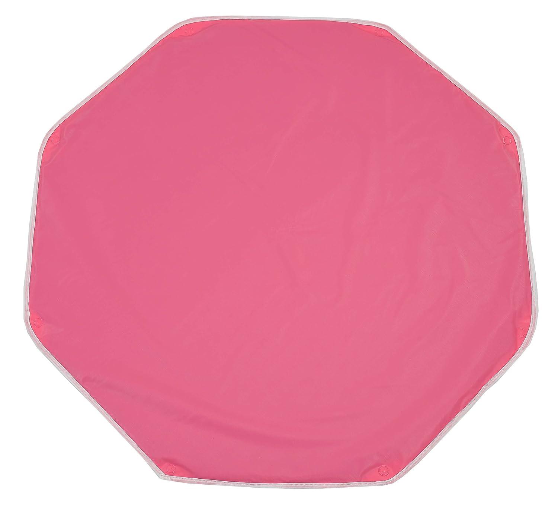 Looping BTPO Polyvinyl Chloride (PVC) Octagon Playpen Mat with Fastening Ringholes - Mat Dimensions 108 x 108 cm - Raspberry
