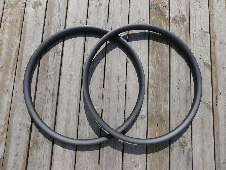 700C Carbon Bike Rim 38mm Clincher Road Bicycle Rim Disc Brake 3K Matt 25mm Wide