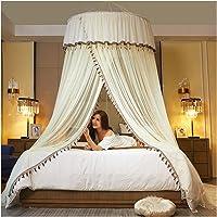 JJSCCMDZ myggnät säng baldakin dubbla färger hängande myggnät prinsessa säng tält gardin vikbart tak på sängen elegant…