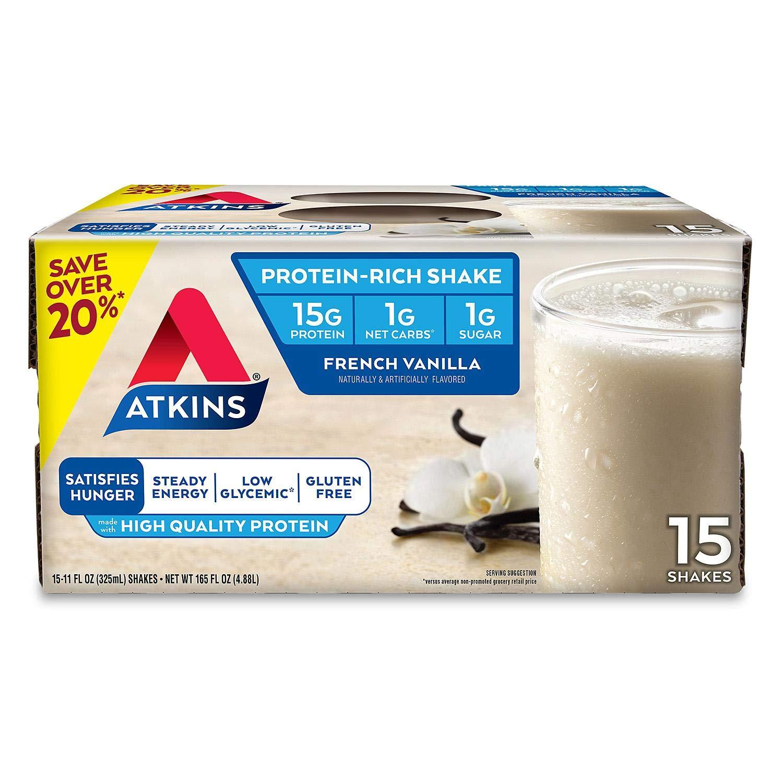 Atkins Advantage French Vanilla Shake (11 fl. oz., 12 pk.) by Atkins