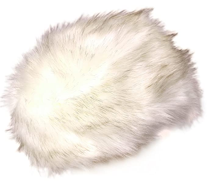 b5481d6d8c4 KMystic Faux Fur Cossack Russian Style Winter Hat (Ivory) at Amazon ...