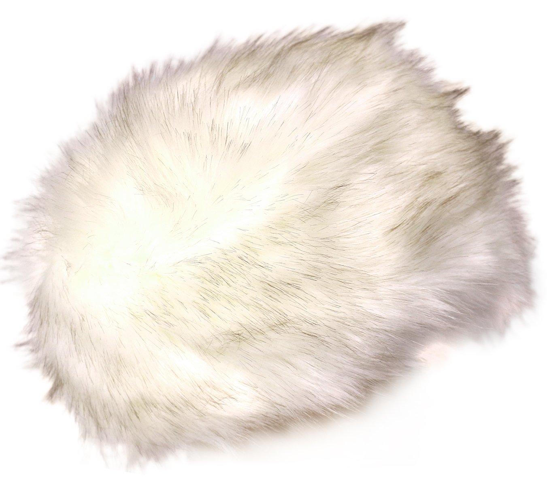 KMystic Faux Fur Cossack Russian Style Winter Hat (Ivory)