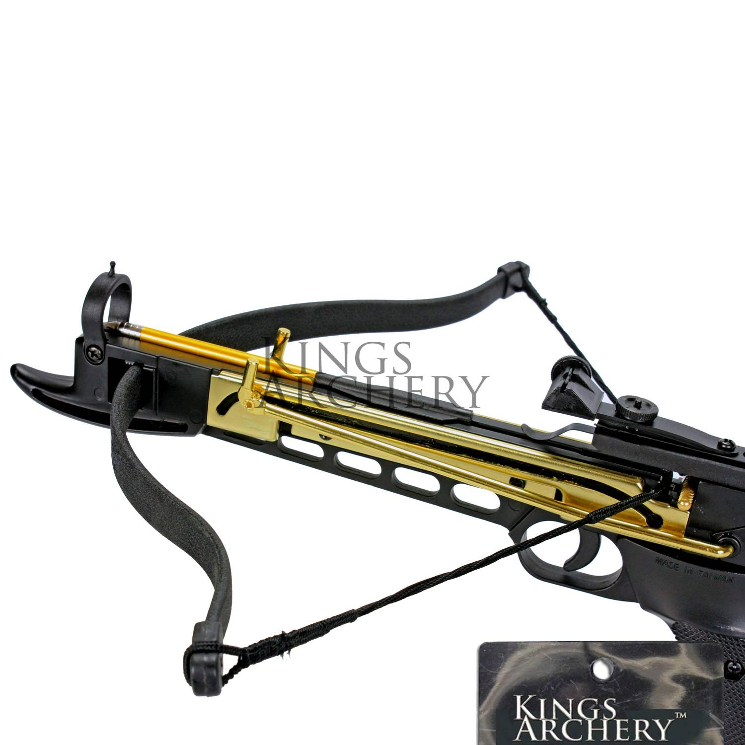 Crossbow Self-Cocking 80 LBS by KingsArchery® with Hunting Scope, 3 Aluminium Arrow Bolts, and Bonus 120-pack of Colored PVC Arrow Bolts + KingsArchery® Warranty by KingsArchery (Image #4)