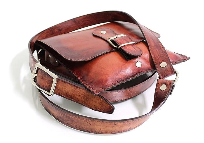miglior sito web ebf55 fa61d Borsello Uomo in cuoio con tracolla - Personalizzato: Amazon ...