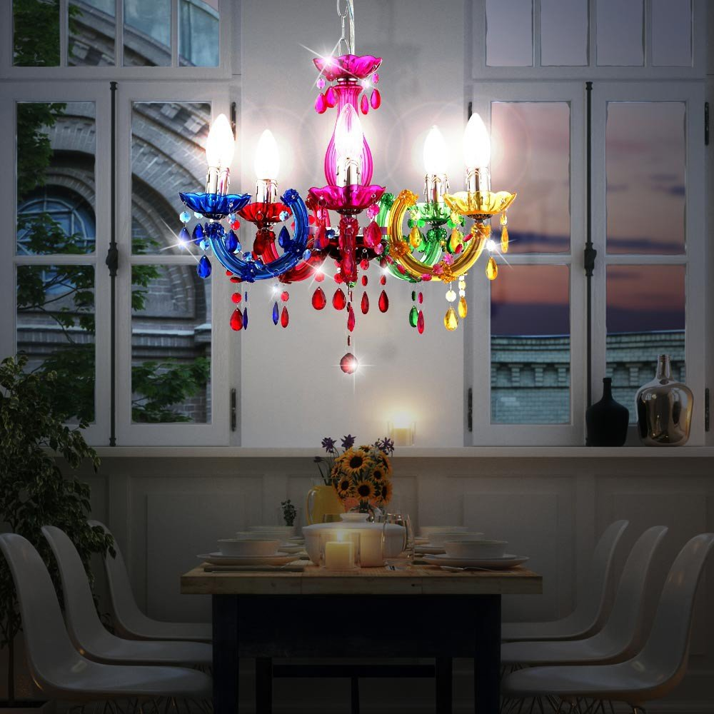 LED 15 Watt Kronleuchter Decken Lampe Chrom Luster Pendel Leuchte Wohnzimmer EEK A Amazonde Beleuchtung