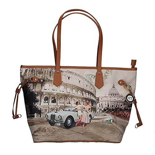 2f554bcf0c Borsa donna Y Not Roma Life J-319 Shopping grande: Amazon.it: Scarpe e borse