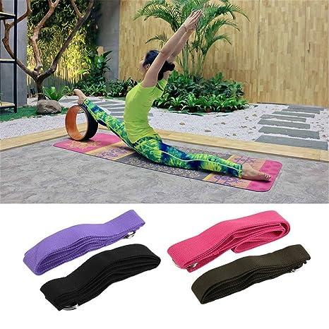 Cintur/ón el/ástico para Yoga Ndier con Anilla en D