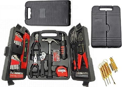 1265668615d 129pcs Home Repair Tool kit for Home Maintenance