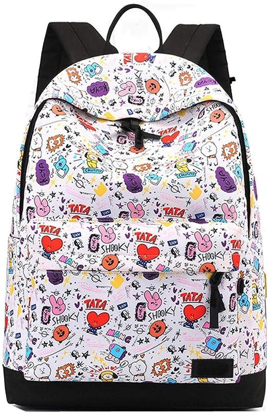 Amazon Com Mstrrouning Korean K Pop Stylish Bts School Backpack