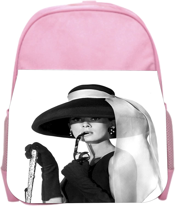 Hepburn in a Hat Girls Pink Preschool Toddler Childrens Backpack /& Lunch Box Set