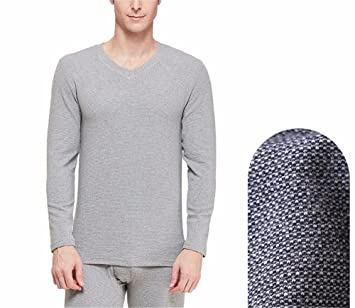 YMFIE Otoño e Invierno simples amantes cómodo lujo rayas gruesas de algodón ropa interior térmica manga