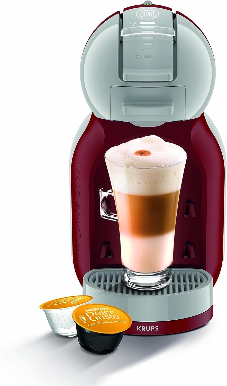 Krups KP1205 Nescafe Dolce Gusto Mini Me - Cafetera monodosis, color rojo y gris: Amazon.es: Hogar
