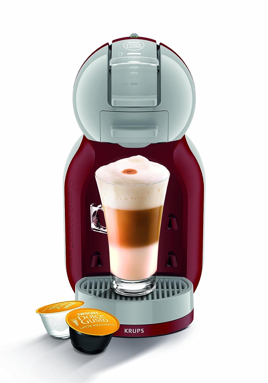 Krups KP1205 Nescafe Dolce Gusto Mini Me - Cafetera monodosis, color rojo y gris