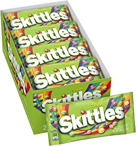 Skittles Sour Candy, 1.8 ounce (24 Single Packs): Amazon.es: Alimentación y bebidas
