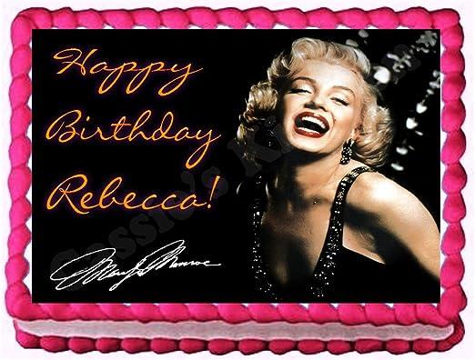 Amazon.com: Marilyn Monroe 1/4 Hoja imagen torta de ...