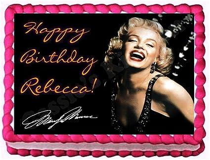 Amazon.com: Marilyn Monroe 1/4 Sheet Edible Image Birthday Cake ...