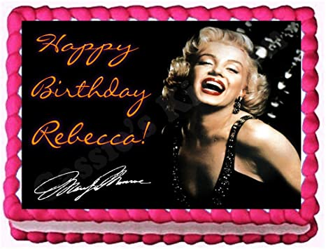 Surprising Home Garden Marilyn Monroe Birthday Party Icing Edible Cake Personalised Birthday Cards Paralily Jamesorg