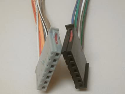 reverse wire harness - replaces factory cut harness plugs into the factory  radio from a jeep