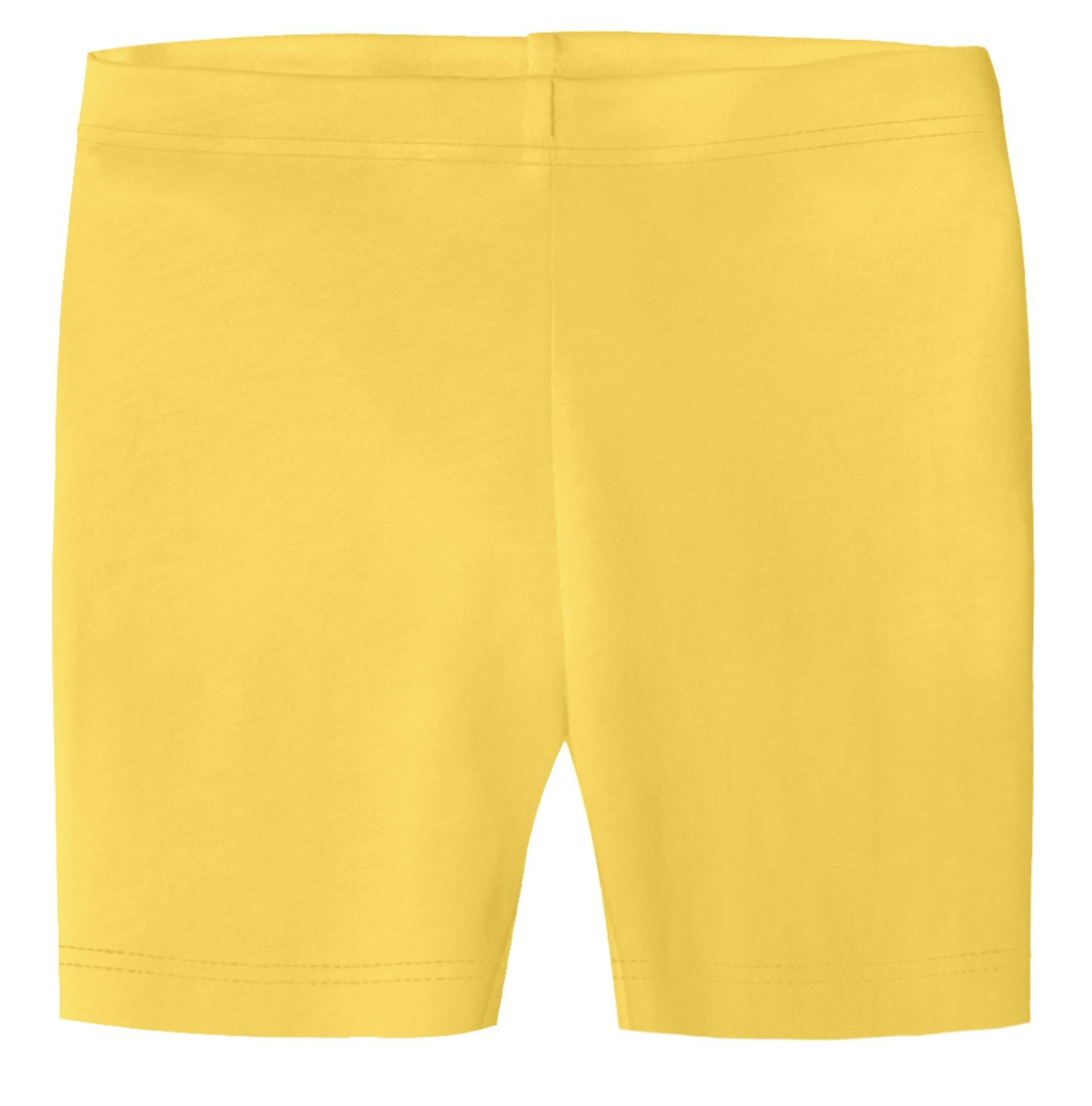 City Threads Little Girls Underwear Bike Shorts in All Cotton Perfect for SPD and Sensitive Skin Sports Dance School Uniform, Yellow, 2T