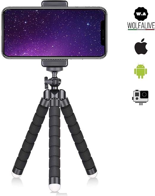 Trípode Smartphone wolfalive Universal para teléfono y Cámara de ...