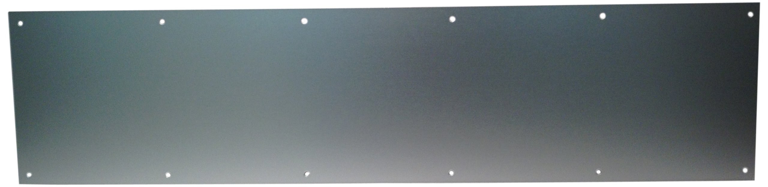 Don-Jo 90 Metal Kick Plate, Satin Anodized Aluminum Finish, 28'' Width x 10'' Height, 3/64'' Thick