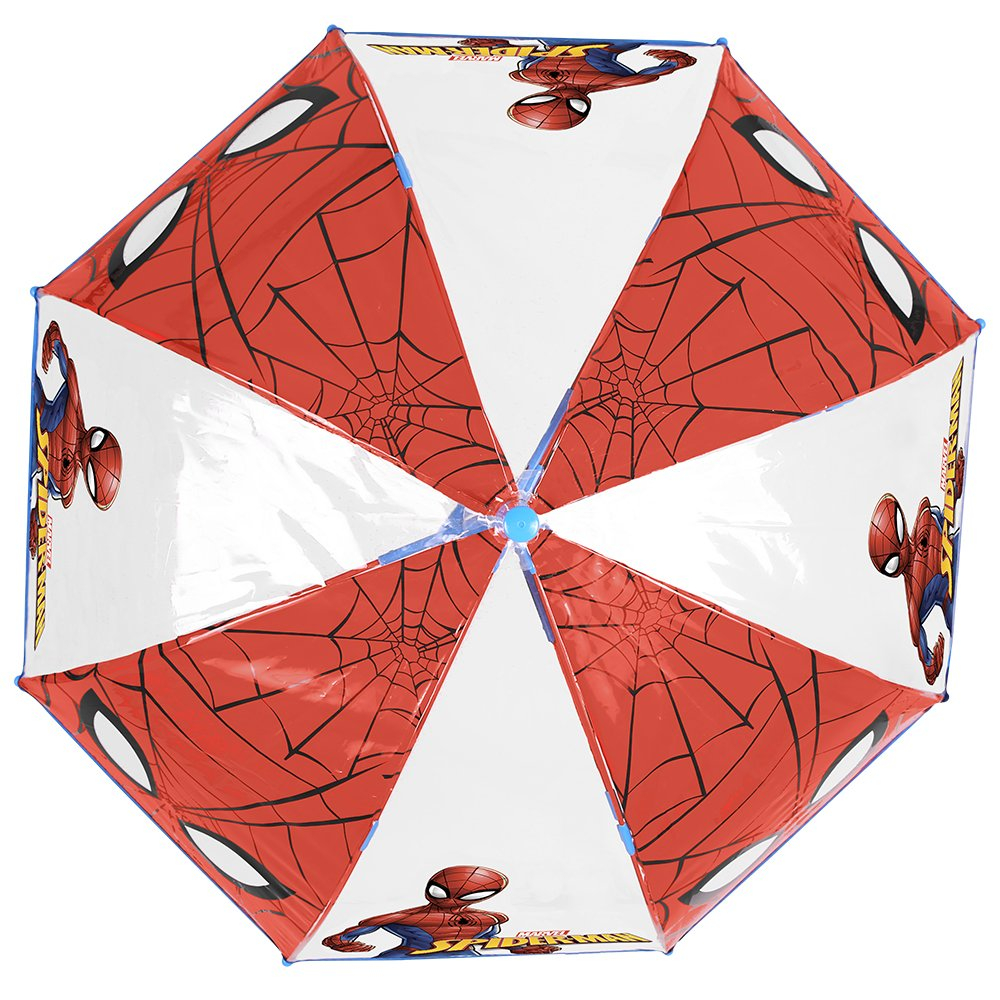 bfd0e5a1972b5 Spiderman Kids Umbrella - Automatic Stick Boys Umbrella - Marvel Spider Man  - Windproof and Resistant Dome Brolly - 5 to 7 Years - Red and Blue -  Diameter ...