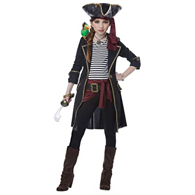 High Seas Captain Girl Child Costume: Toys & Games
