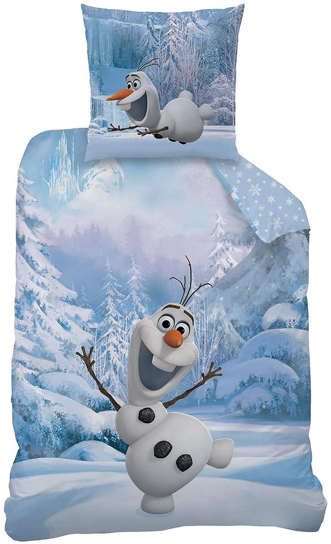/Anna Elsa Sven Kristoff/ /100/% cotone/ /Pupazzo di neve Linon bambini biancheria da letto Frozen Snowman Olaf/ /La Regina di ghiaccio 135/x 200/cm 80/x 80/cm/